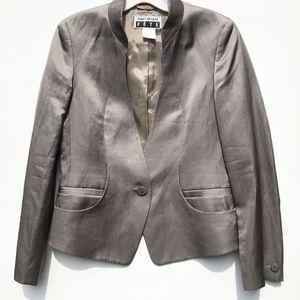 ISSEY MIYAKE Fete sateen Blazer 2 Jacket US 4
